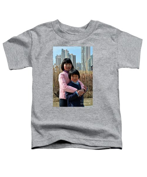 Two Chinese Teen Sisters Hug  And Embrace Shanghai China Toddler T-Shirt