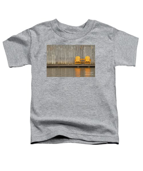 Two Wooden Chairs On An Old Dock Toddler T-Shirt