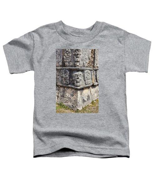 Tzompantli Or Platform Of The Skulls At Chichen Itza Toddler T-Shirt
