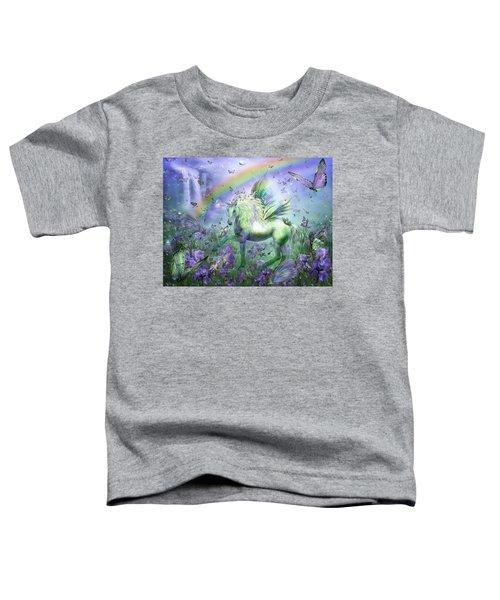 Unicorn Of The Butterflies Toddler T-Shirt