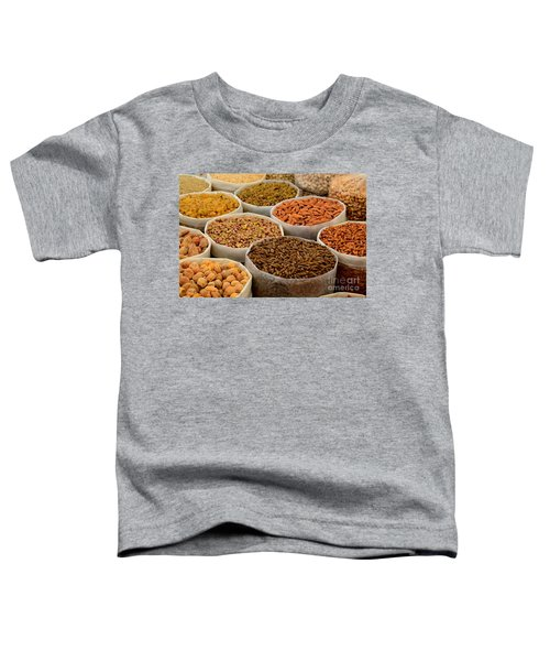 Variety Of Raw Nuts For Sale At Outdoor Street Market Karachi Pakistan Toddler T-Shirt