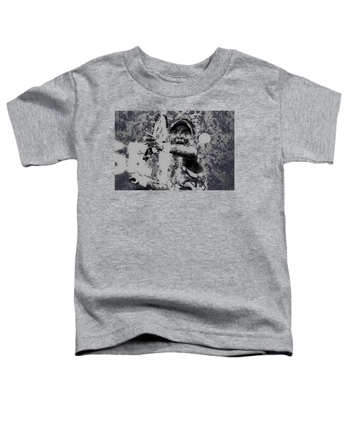 Venus Williams Paint Splatter 2e Toddler T-Shirt by Brian Reaves