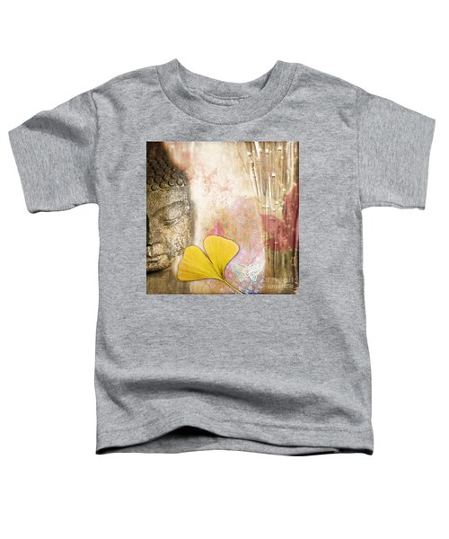 Vintage Buddha And Ginkgo Toddler T-Shirt