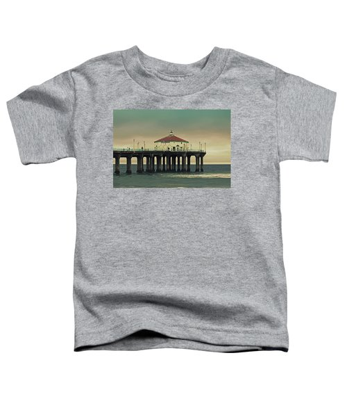 Vintage Manhattan Beach Pier Toddler T-Shirt