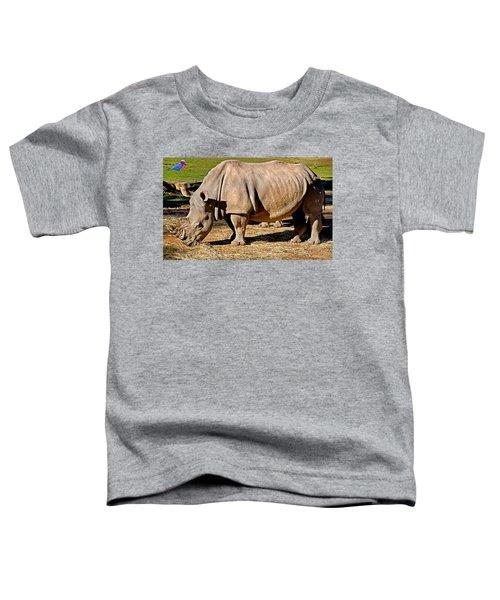 Vip Cockatoo Visitor Gets Closer Look Toddler T-Shirt by Miroslava Jurcik