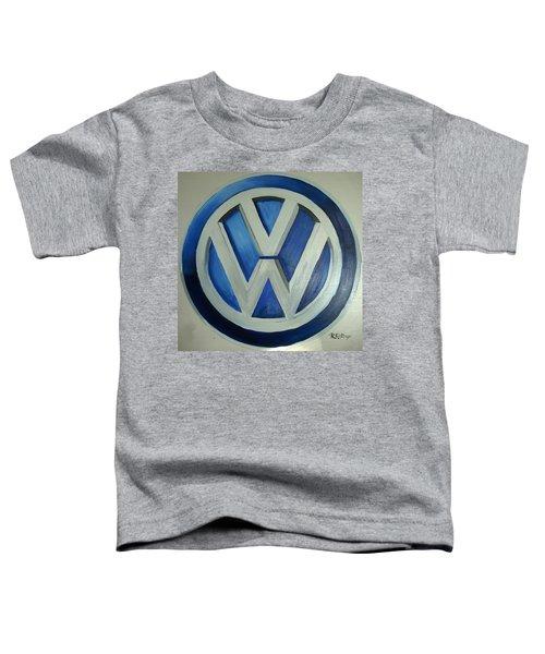 Vw Logo Blue Toddler T-Shirt