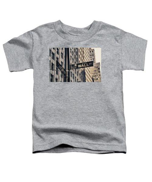 Wall Street Sign Toddler T-Shirt
