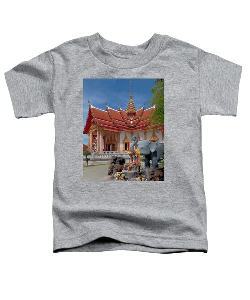 Wat Chalong Wiharn And Elephant Tribute Dthp045 Toddler T-Shirt