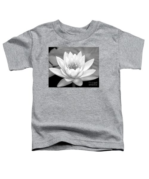 Water Lily In Black And White Toddler T-Shirt