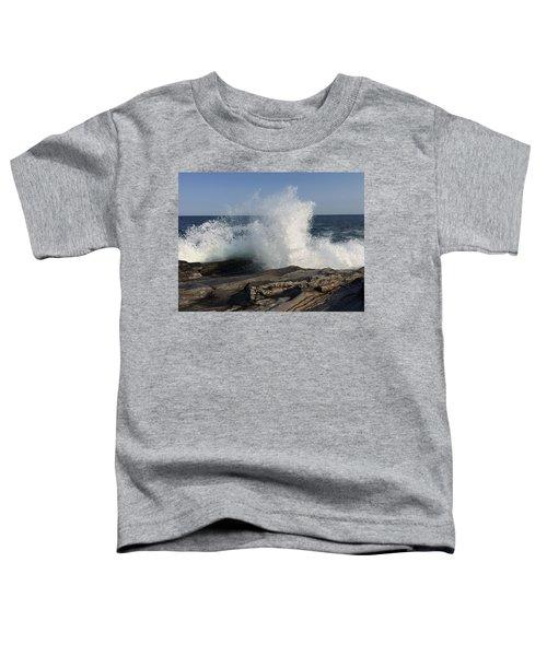 Waves Crashing On Rocky Maine Coast Toddler T-Shirt