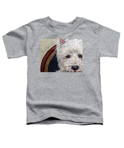West Highland Terrier Dog Portrait Toddler T-Shirt