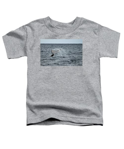 Toddler T-Shirt featuring the photograph Whale Of A Time by Miroslava Jurcik