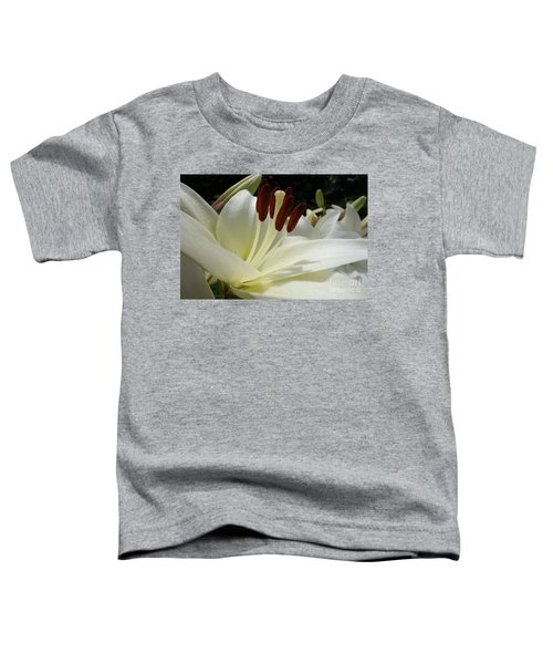 White Asiatic Lily Toddler T-Shirt by Jacqueline Athmann