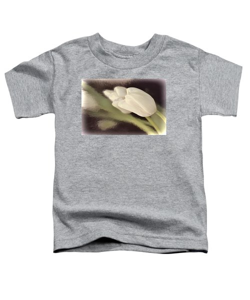 White Tulip Reflected In Misty Water Toddler T-Shirt