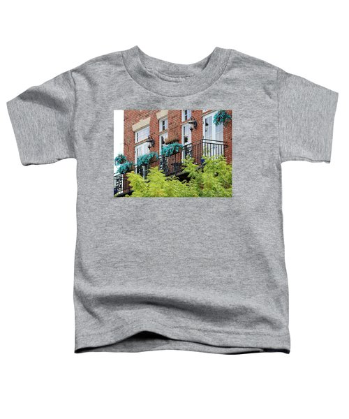 Blue Flowers On A Balcony  Toddler T-Shirt