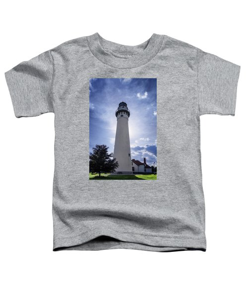Wind Point Lighthouse Silhouette Toddler T-Shirt