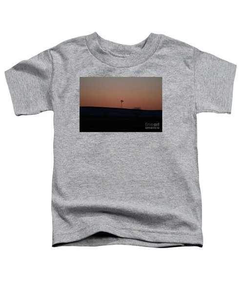 Windmill At Sunset Toddler T-Shirt