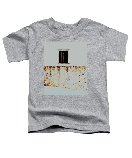 Window Wall And Snow Toddler T-Shirt