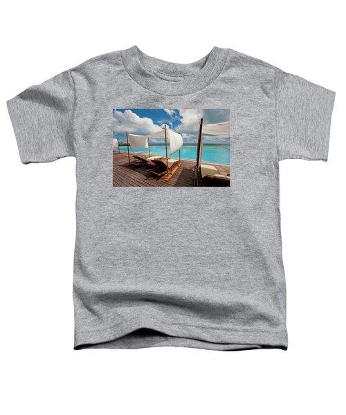 Windy Day At Maldives Toddler T-Shirt