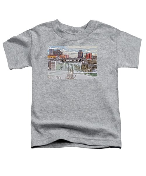 Winter At High Falls Toddler T-Shirt