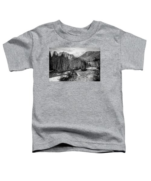 Winter Backroads Englishman River Toddler T-Shirt
