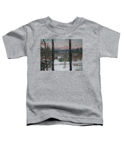 Winter - Cabin - Pink Knob Toddler T-Shirt