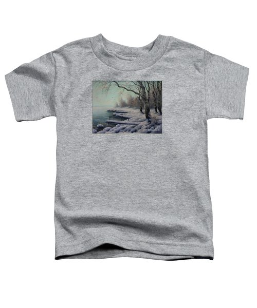Winter Coming On The Riverside Toddler T-Shirt