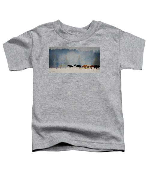 Winter Horses Toddler T-Shirt