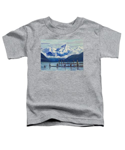 Winter Mountains Alaska Toddler T-Shirt
