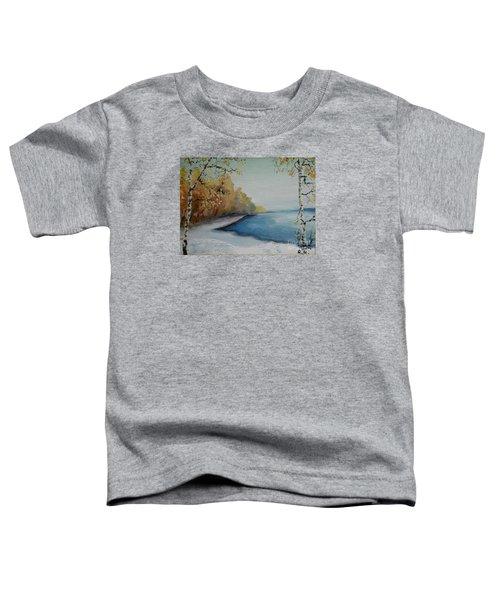 Winter Starts At Kymi River Toddler T-Shirt