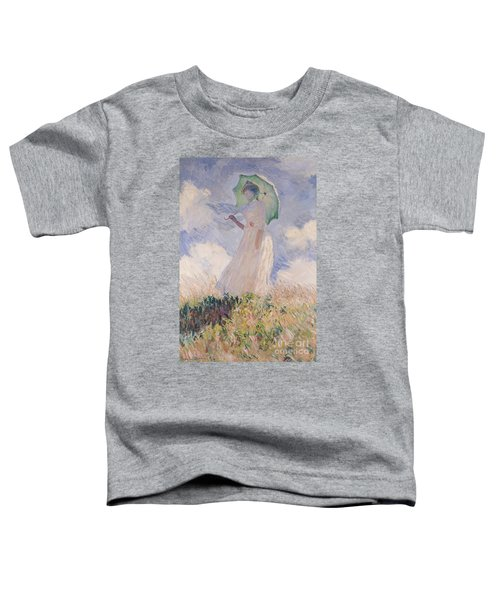 Woman With Parasol Turned To The Left Toddler T-Shirt