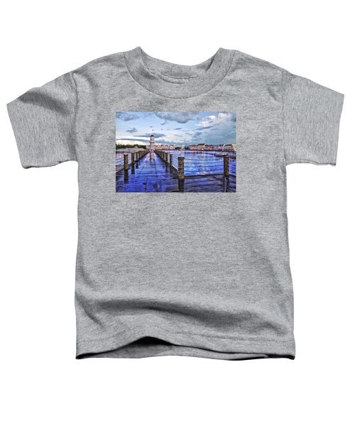 Yacht And Beach Club Lighthouse Toddler T-Shirt