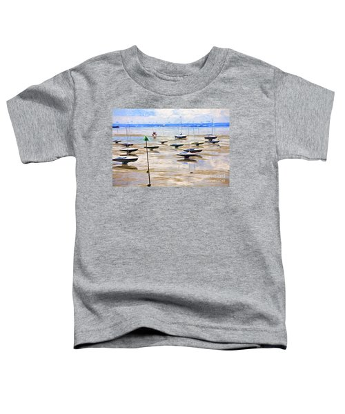 Yachts On Mudflats At Leigh On Sea Toddler T-Shirt
