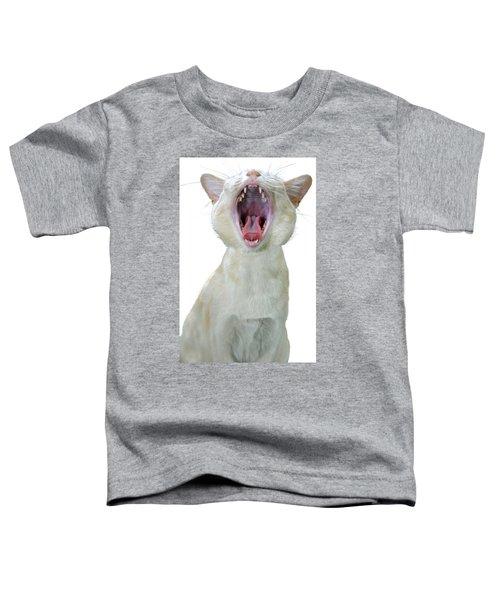 Yawning Cat Toddler T-Shirt