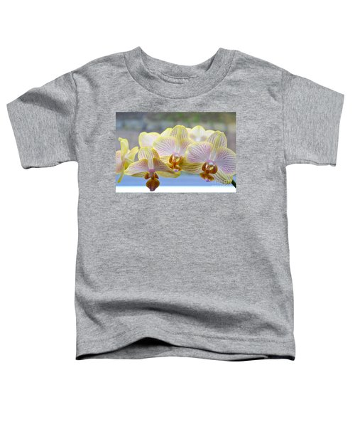 Yellow And Pink Orchids Toddler T-Shirt