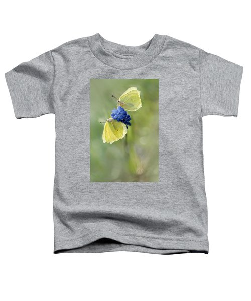Toddler T-Shirt featuring the photograph Yellow Duet by Jaroslaw Blaminsky