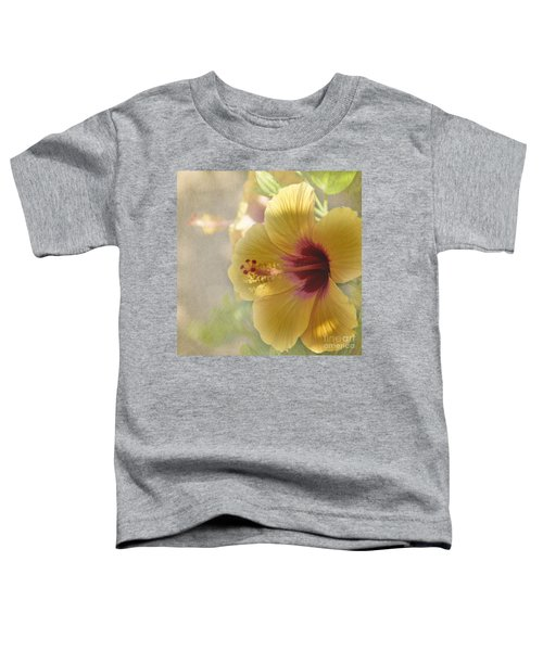 Yellow Hibiscus Toddler T-Shirt by Peggy Hughes