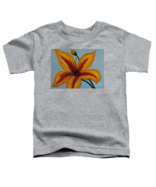 Yellow Oriental Lily Toddler T-Shirt