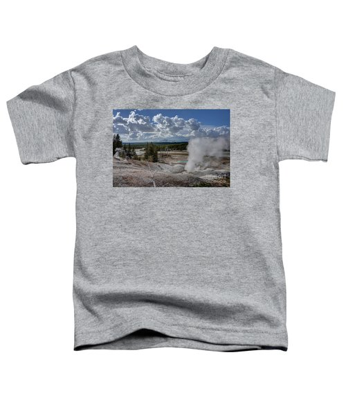 Yellowstone's Norris Geyser Basin Toddler T-Shirt