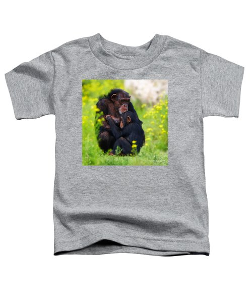 Young Chimpanzee With Adult - II Toddler T-Shirt