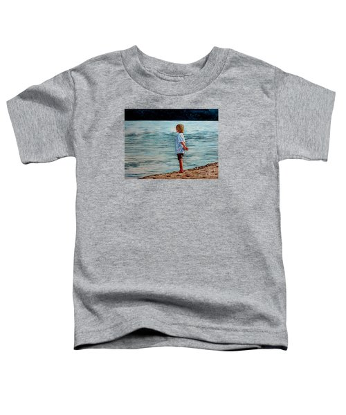 Young Lad By The Shore Toddler T-Shirt
