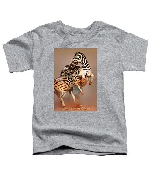 Zebras Fighting Toddler T-Shirt