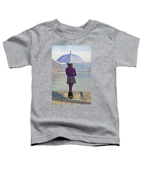 Girl With Umbrella Toddler T-Shirt