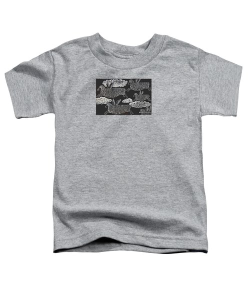 Toddler T-Shirt featuring the drawing And Sheep Can Fly by Nareeta Martin