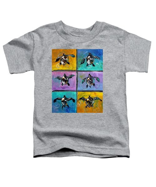 Baby Sea Turtles Six Toddler T-Shirt