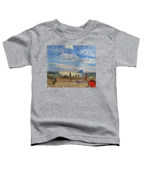 Blue Flag And Red Sun Shade Toddler T-Shirt