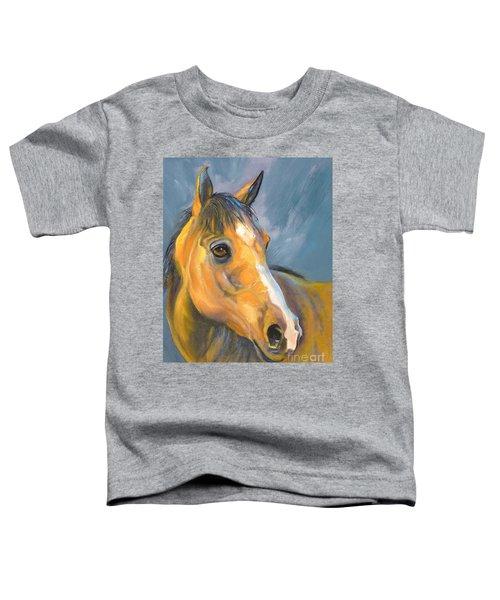 Buckskin Sport Horse Toddler T-Shirt