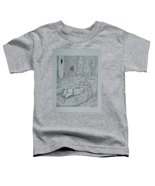 Canine Skull And Butterfly Toddler T-Shirt