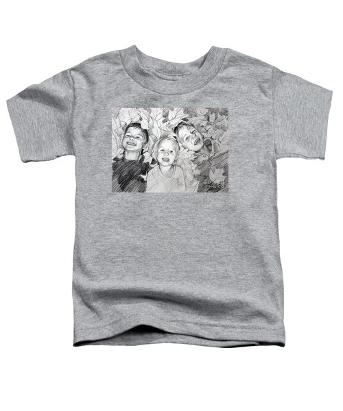 Children Playing In The Fallen Leaves Toddler T-Shirt