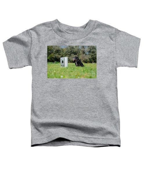 Dog Watching Tv Toddler T-Shirt